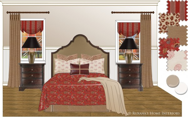 Window Treatments Master bedroom